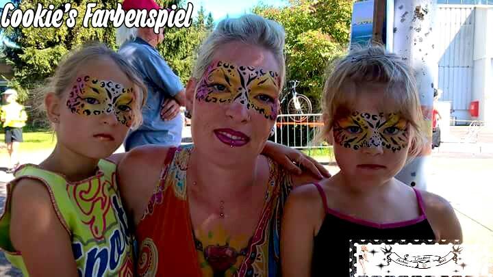 Facepainting Kinderschminken Flugplatzfest Bitz 2015