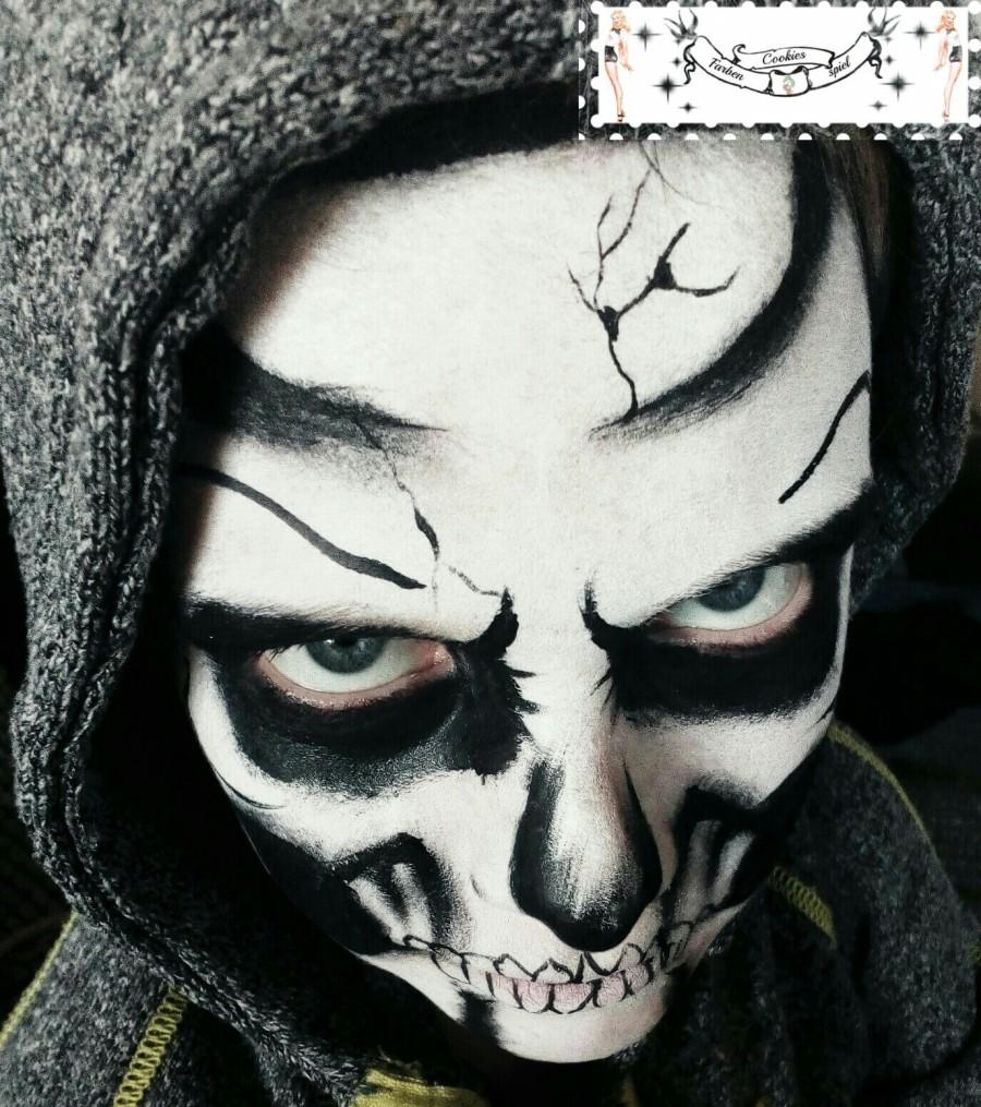 Skull Kinderschminken Halloween Totenkopf