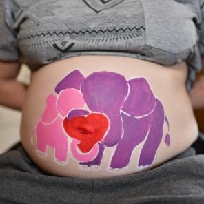 BellyPainting Elefantenliebe 2