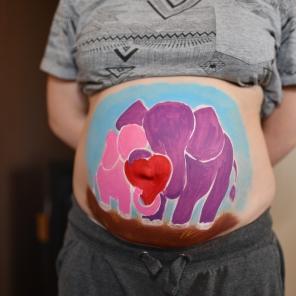 BellyPainting Elefantenliebe 3