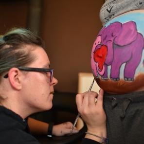 BellyPainting Elefantenliebe 4